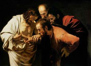 The Incredulity of St. Thomas by Caravaggio, 1601-1602
