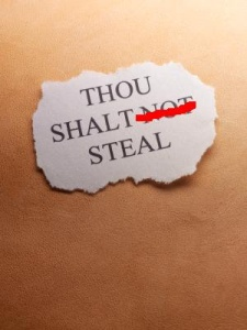 thou shalt not steal 1 edit
