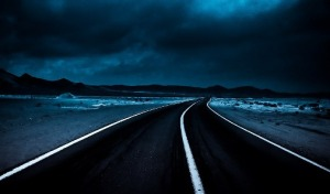 night_road higway